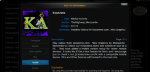 Kissanime addon Kodi video