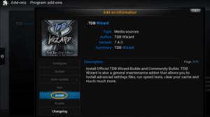 TDB Wizard addon Kodi install guide